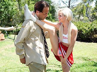 Blonde cheerleader chick Elsa Dream..